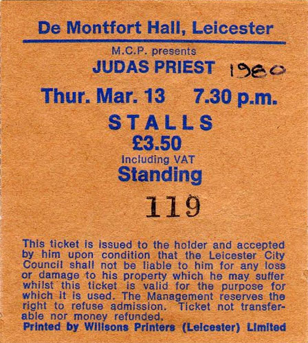 Early UK Concerts 1976-1980