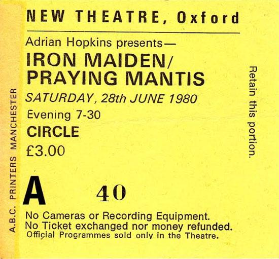 Iron Maiden Tour 1980