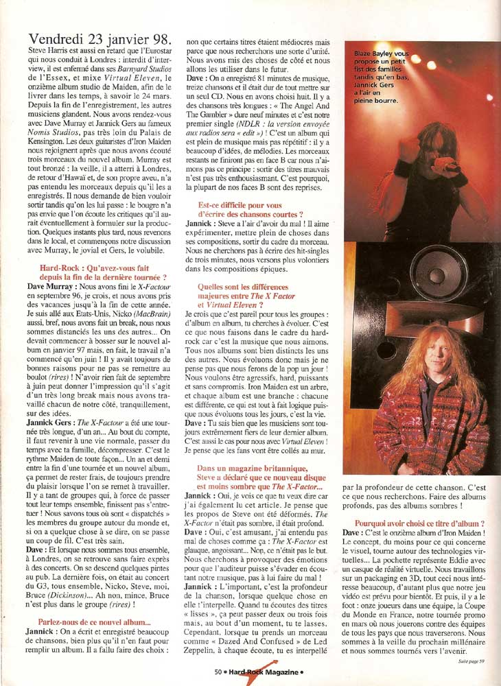 Hard Rock Magazine NS N°32 - Mars 1998