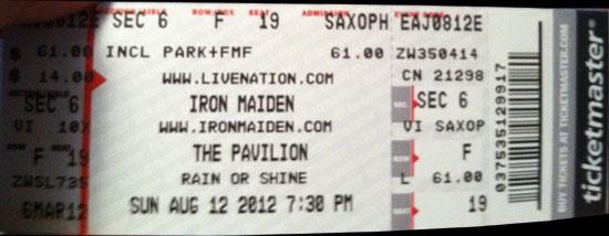 Maiden England USA Tour 2012