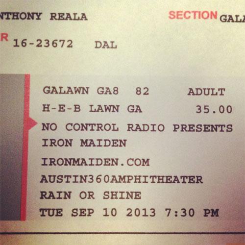09/10/13 - Iron Maiden - Austin - USA