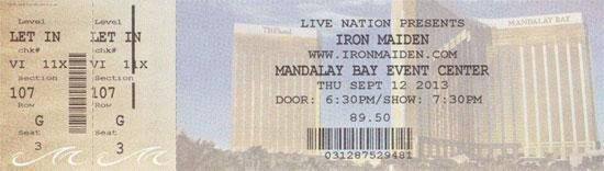 09/12/13 - Iron Maiden - Las Vegas - USA