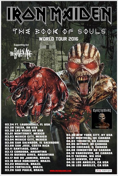 The Book Of Souls American Tour 2016
