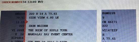 Iron Maiden - Las Vegas, NV - USA - 02/28/16