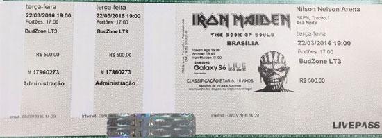 The Book Of Souls World Tour 2016 - Brasilia