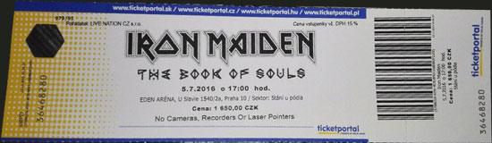 The Book Of Souls World Tour 2016 - Prague