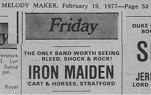 02/25/77 - Iron Maiden
