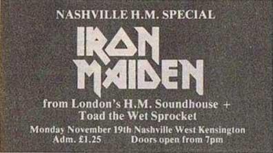 11/19/79 - Iron Maiden