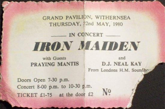 Iron Maiden Tour 1980