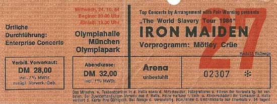World Slavery Tour 1984/1985