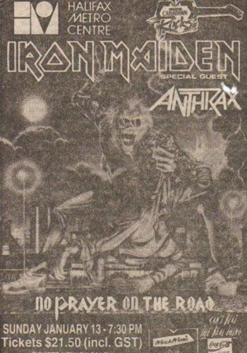 Iron Maiden - Halifax - Canada - 01/13/91