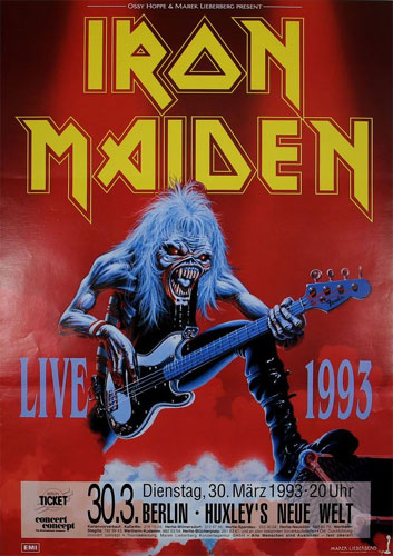 03/30/93 - Iron Maiden - Berlin - Germany