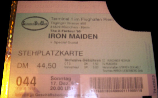 12/17/95 - Iron Maiden - Munich - Germany