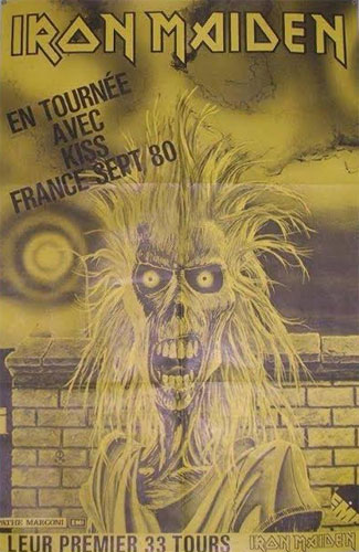 Iron Maiden France 1980 Advert