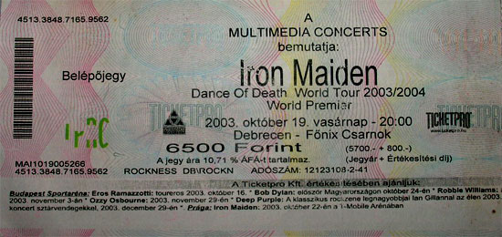 Dance of Death World Tour 2003/2004