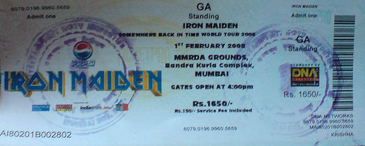 Somewhere Back In Time World Tour 2008