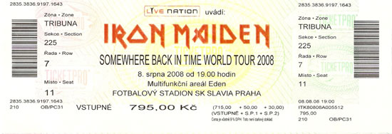 Somewhere Back In Time World Tour 2008/2009