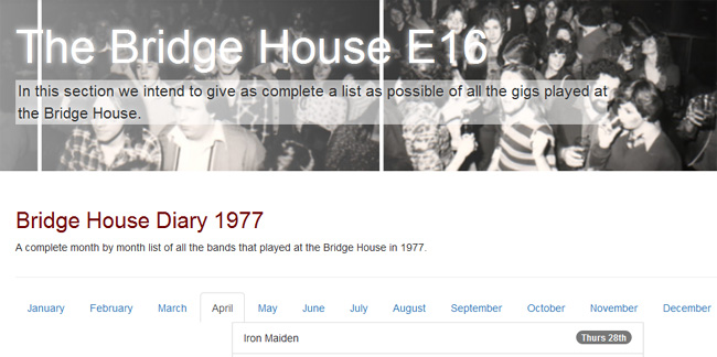 The Bridge House P.H., Canning Town – Londres - 77/04/28