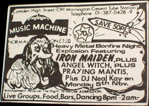 Music Machine, Camden Town - Londres - 1979/11/05