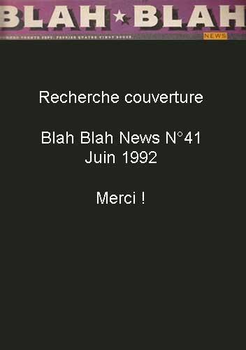 Blah Blah News N°41 - Juin 1992