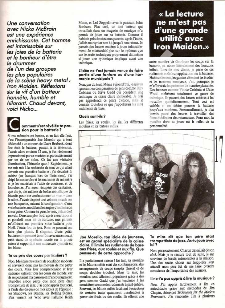 Batteur Magazine N°51 - Novembre 1992