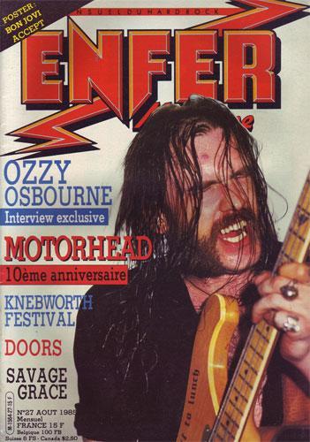 Enfer Magazine N°27 - Août 1985