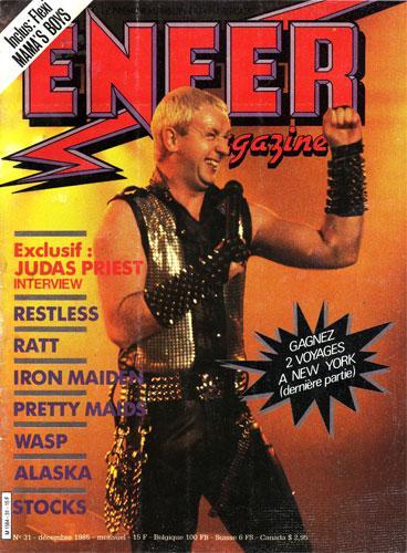 Enfer Magazine N°31 - Dec. 1985