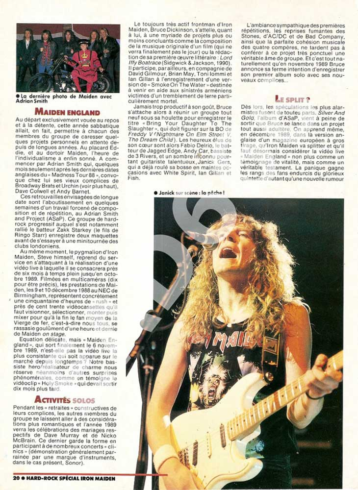 Hard Rock Magazine HS - Novembre 1990
