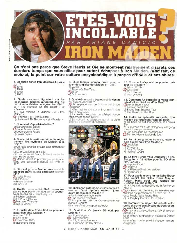 Hard Rock Magazine N°114 - Août 1994