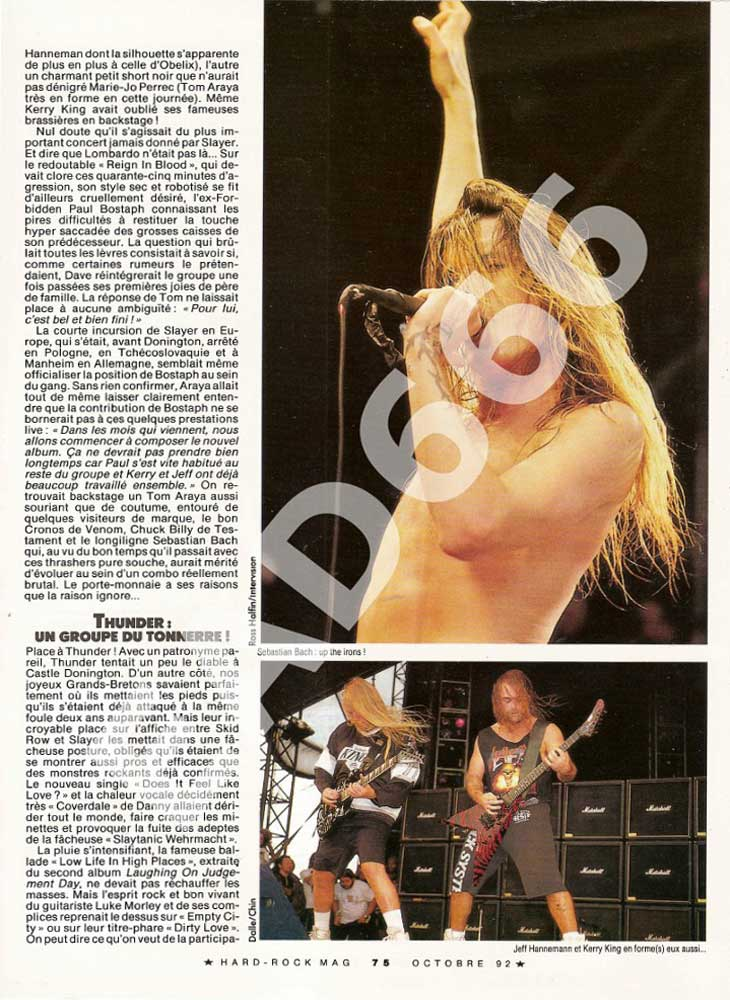 Hard Rock Magazine N°95 - Octobre 1992