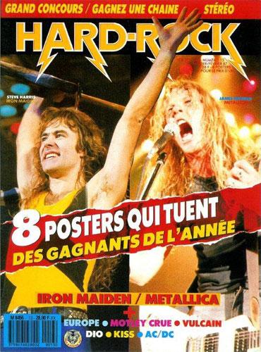 Hard Rock Poster N°13 - Janvier / Février 1987