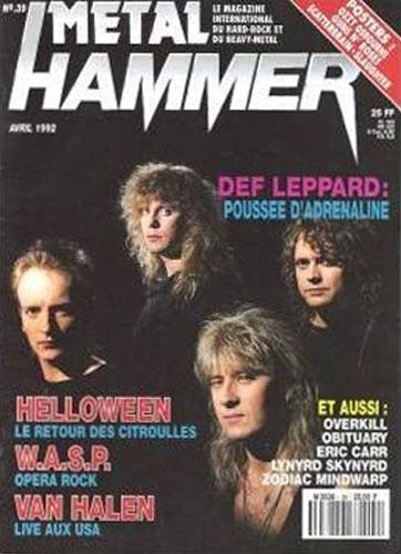Metal Hammer N°39 - Avril 1992