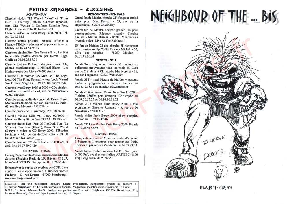 Neighbour Of The Beast N°11 - Décembre 2000