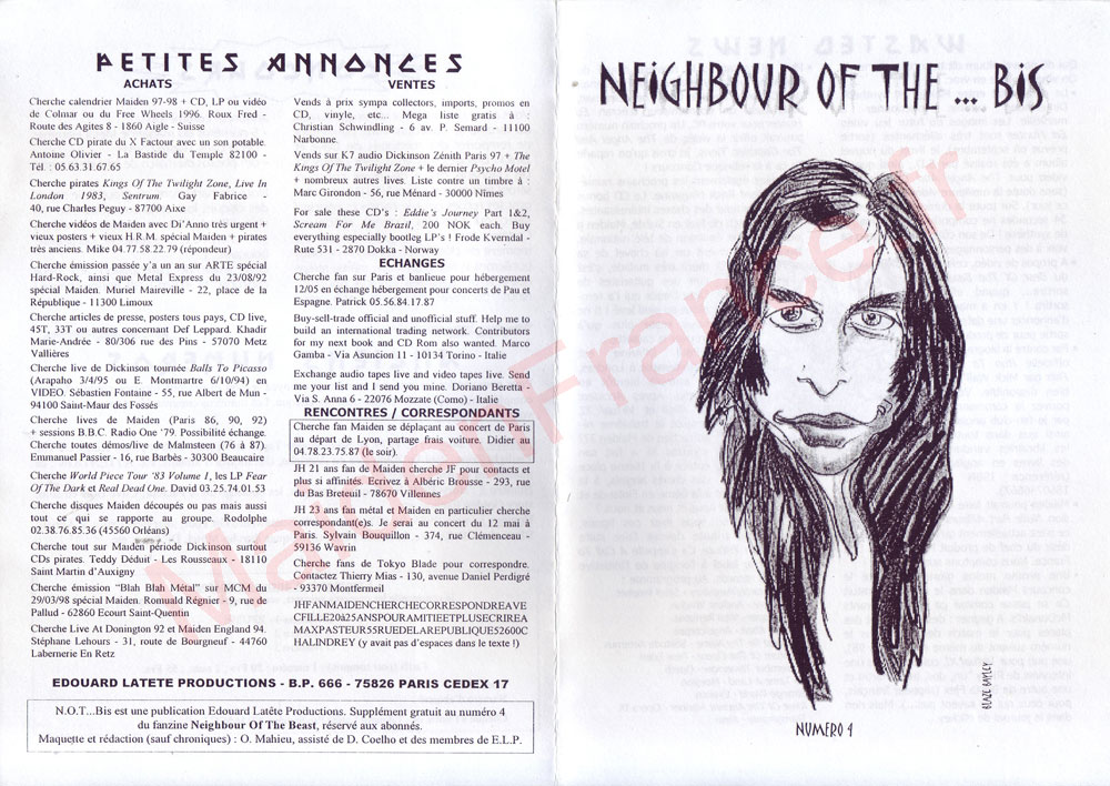 Neighbour Of The Beast N°4 - Avril 1998