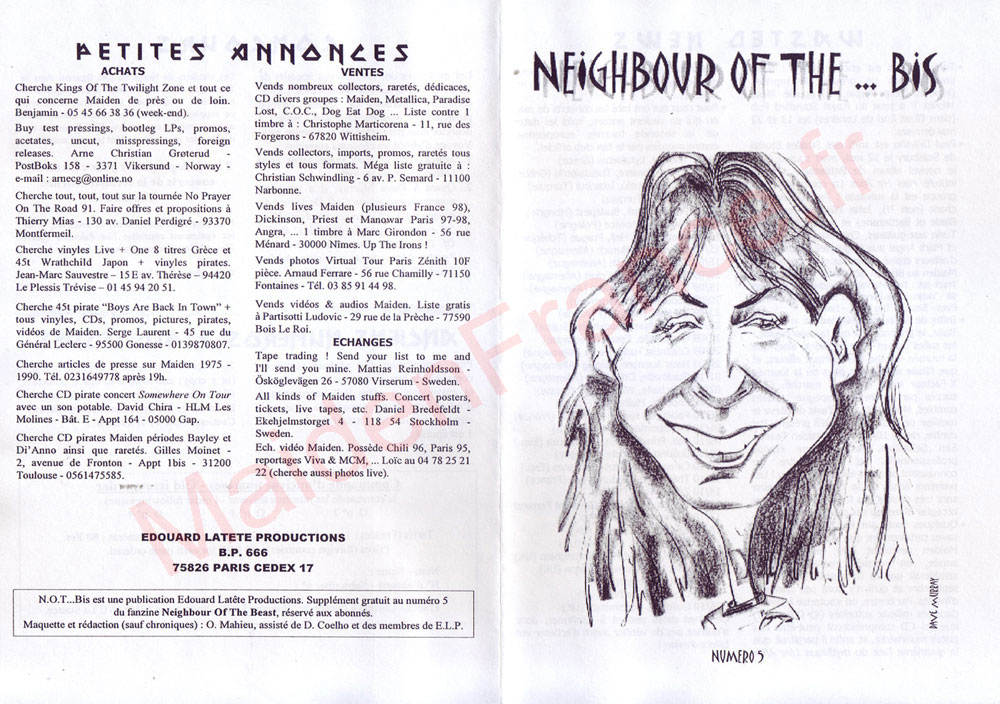 Neighbour Of The Beast N°5 - Aout 1998