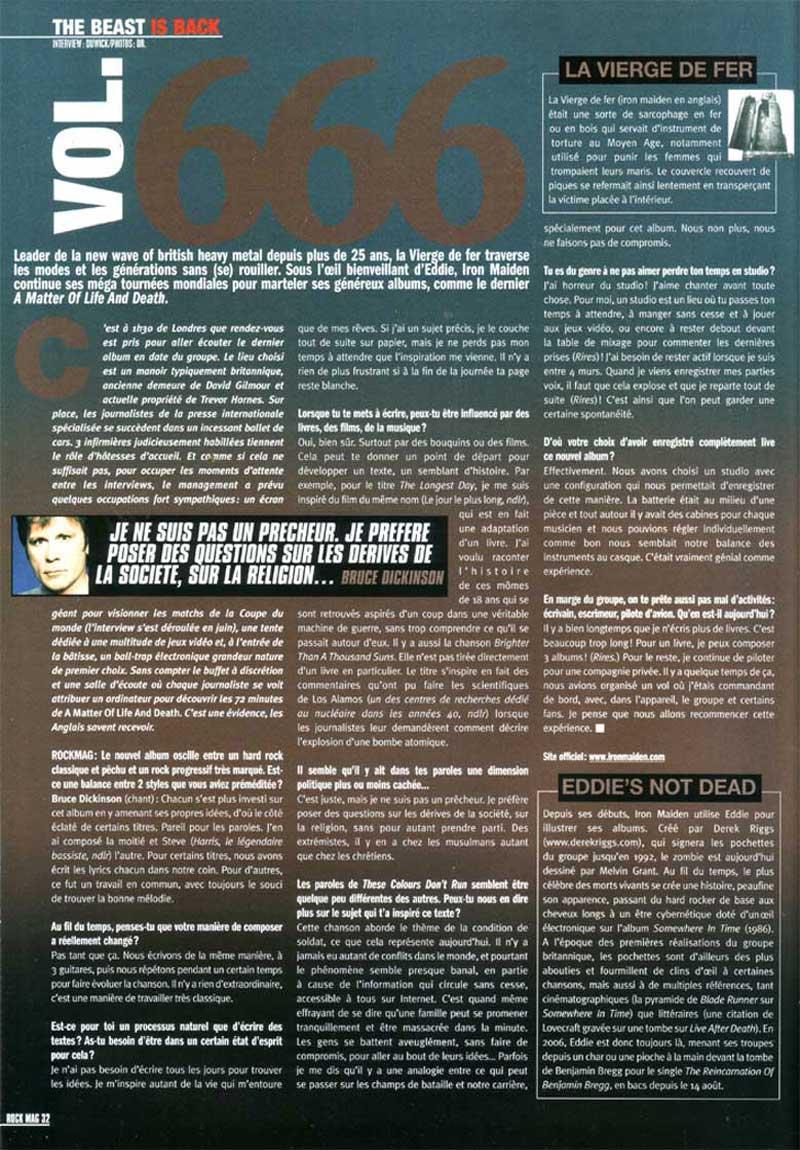 Rock Mag N°69 - Septembre 2006