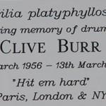 Clive Burr Arbre du Souvenir