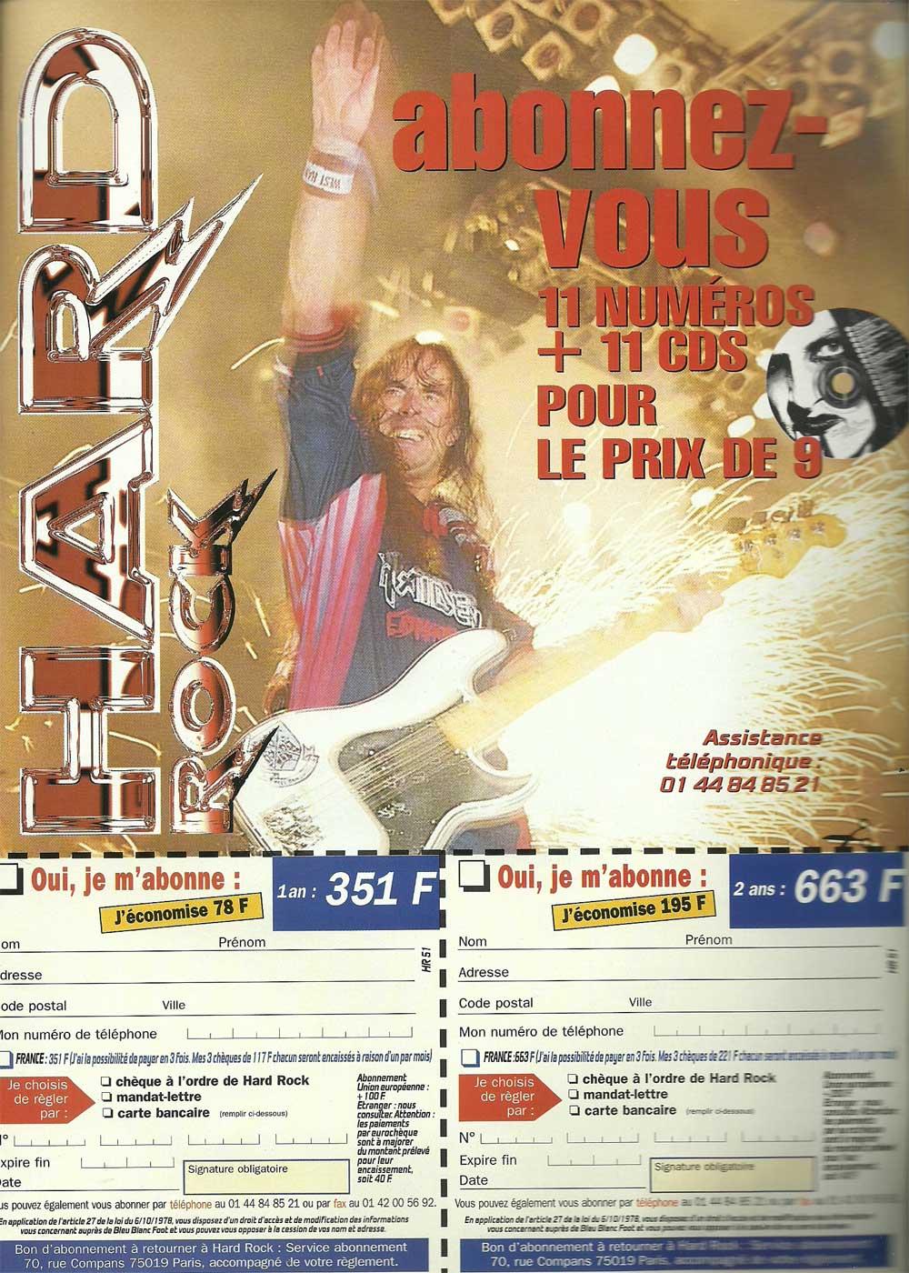 Hard Rock Magazine NS N°51 – Décembre 1999