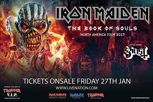 The Book Of Souls North American Tour 2017