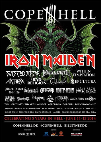 Maiden England Tour 2014 - Copenhell