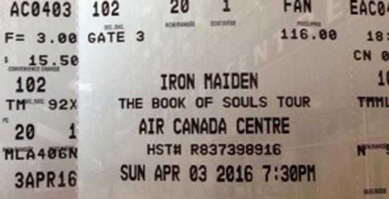The Book Of Souls World Tour 2016 - Toronto