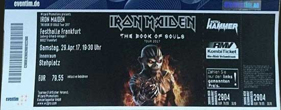The Book Of Souls Tour 2017