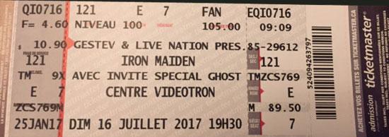 Iron Maiden Quebec City 2017