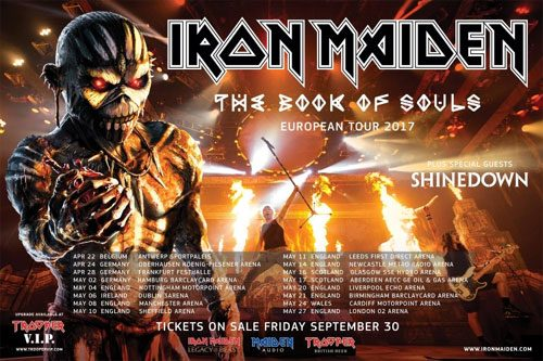 The Book Of Souls European Tour 2017