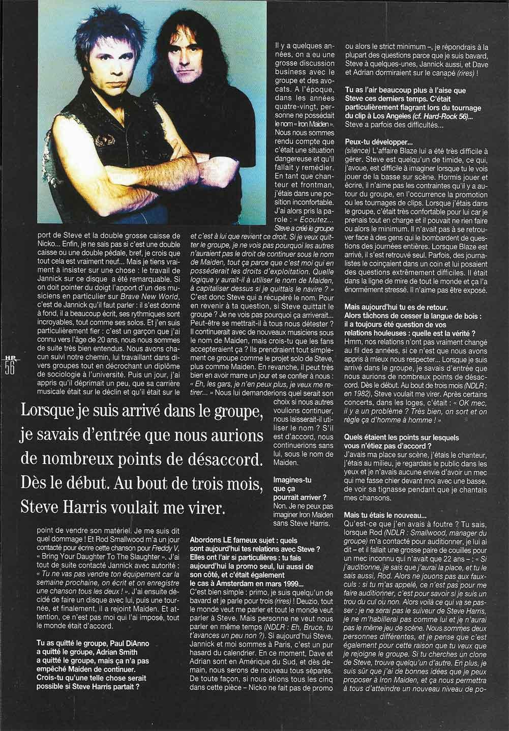 Hard Rock Magazine NS N°58 - Juin 2000