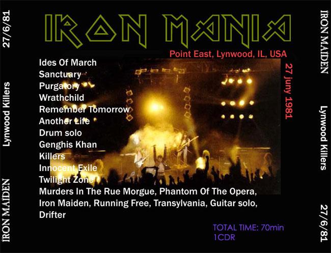 Iron Maiden, Lynwood, IL, USA - 06/27/81